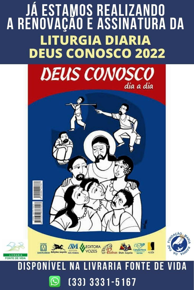 imagem de Liturgia Diária - DEUS CONOSCO - Ano 2022
