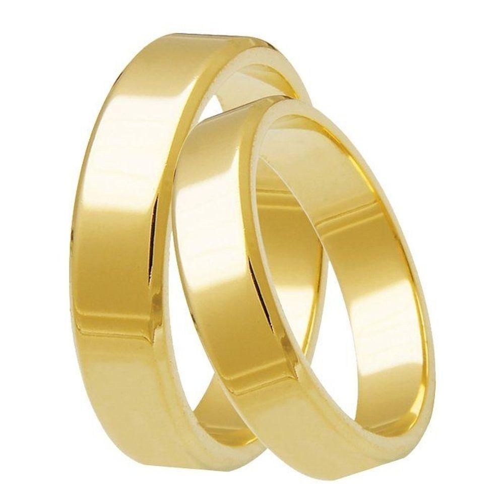 imagem de Alianças de Casamento Ouro 18k Com 8 Gramas o par AL8059