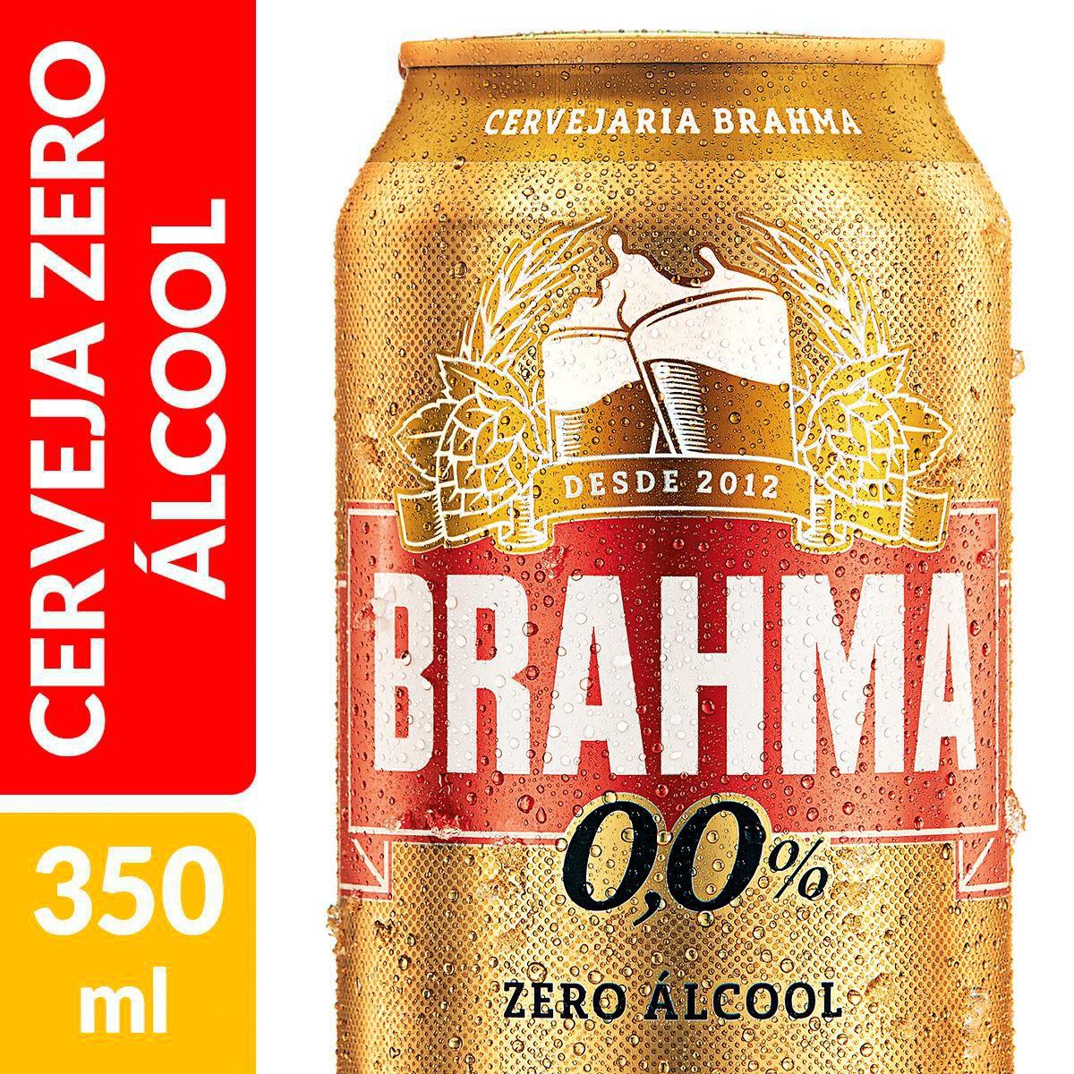 imagem de CERV BRAHMA CHOPP ZERO ALCOOL LATA 350ML