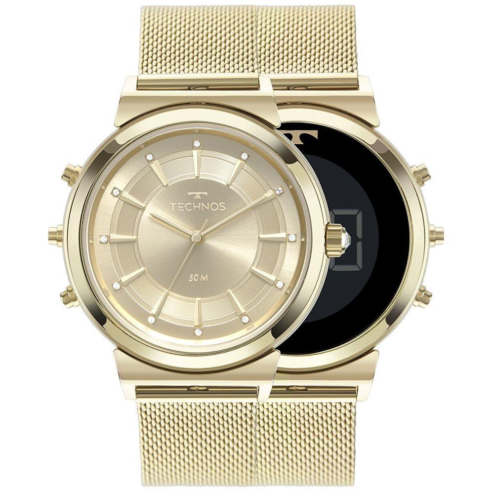 imagem de Relógio Technos Feminino Curvas Dourado 9T33AA/4X