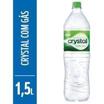 imagem de Água crystal com gás 1,5 LT  - CX 6 UNID 1,5 LITROS